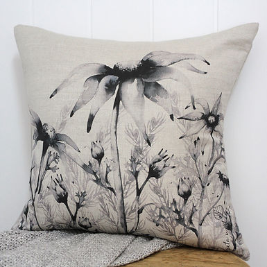 Flannel and emu bush cushion 2 - oatmeal