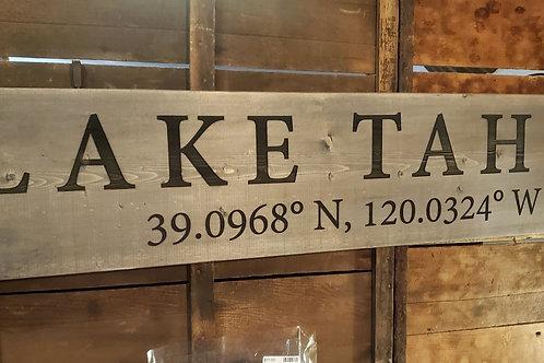 4' Lake Tahoe Sign