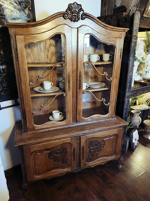 Antique Hutch W/Key