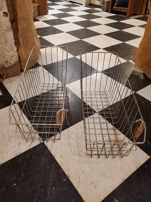 "Wire Metal Basket - 20"" deep x 8"" wide x 9"" tall"