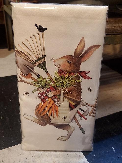 Flour Sack Kitchen Towel (garden tool bunny)