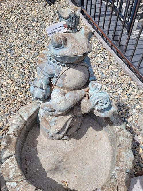 Frog Birdbath / Fountain - Cement