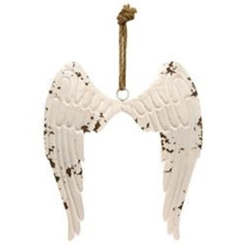Metal Angel Wings on Jute Hanger