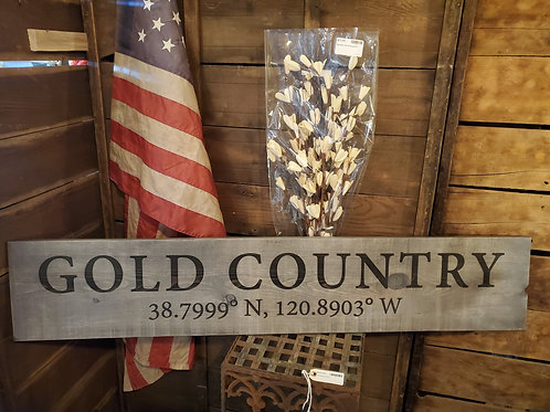 4' Gold Country Sign