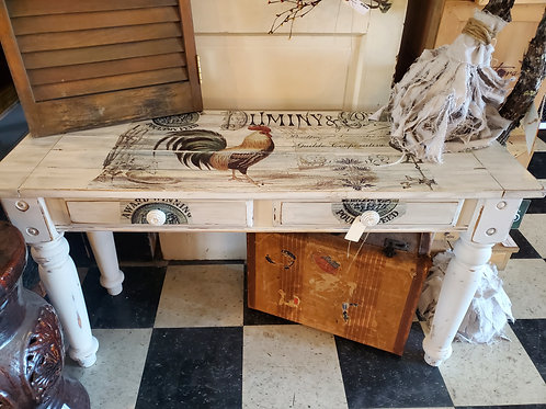 """Rooster Console Table w/2 drawers - 4' wide x 17"""" deep x 27"""" tall"""