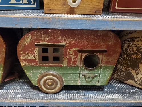 "Tin ""Camper"" birdhouse - approx 12"" x 8"""
