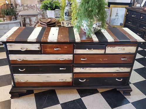 """10 Drawer Dresser - 66 1/2"""" wide x 19 1/2"""" deep x 34 1/2"""" tall"""