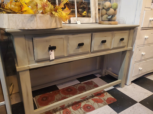 Shabby Stone Console Table