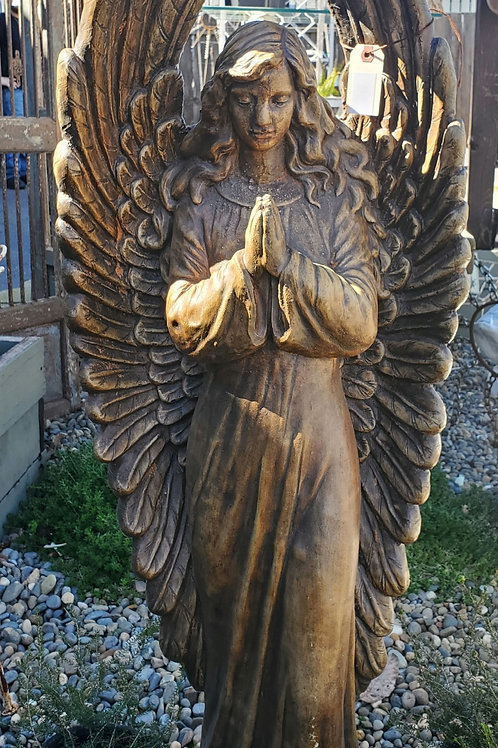 Pretty Cement Praying Angel