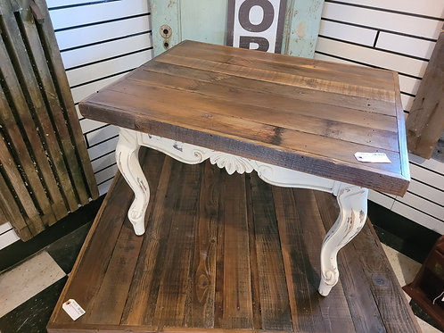 Reclaimed Wood Top End Table