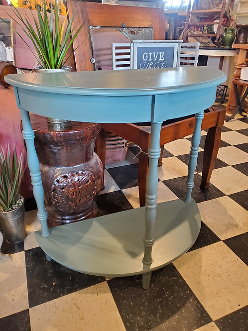 Teal Entry Table / 1/2 Round