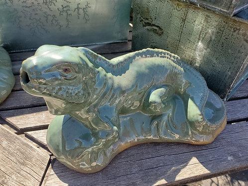 Ceramic Glazed Iguana- decor or use as water shooter!