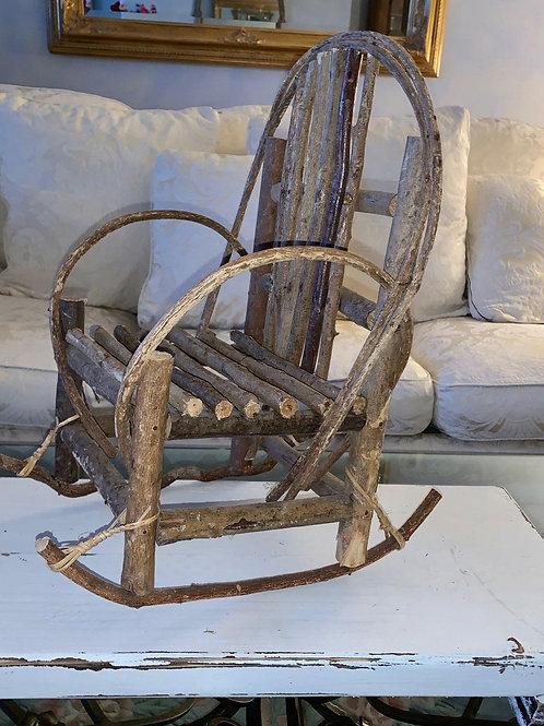 "Adorable Adirondack Doll/Plant Chair.  17 1/2""H x 14""W."