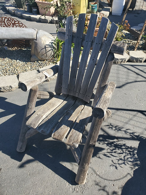 Log Style Outdoor Chair
