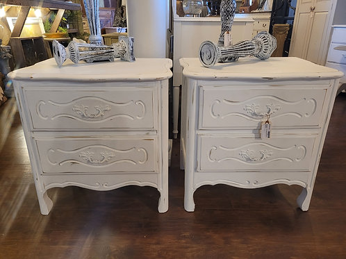 Set of French Provencial Style Nightstands