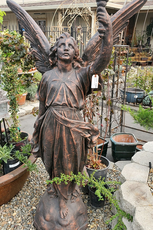 """65"""" Tall Cement Angel"""