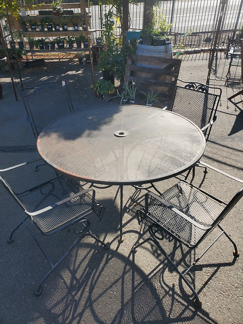 Vintage Iron Table & 4 Chairs - 2 Sets available! Priced each.