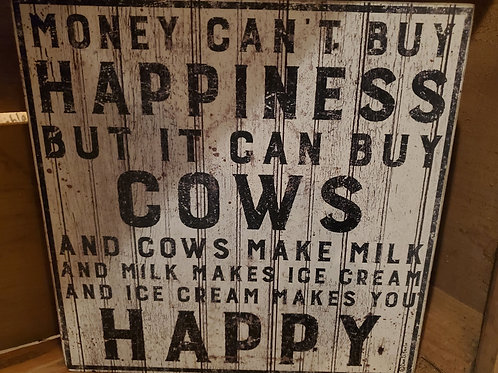 """Buy Cows"" Box Sign 10"" Square"