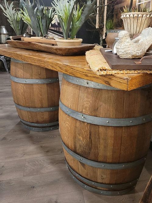 Custom Wine Barrel Bar