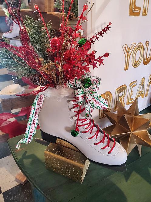 Christmas Ice Skate on Stand