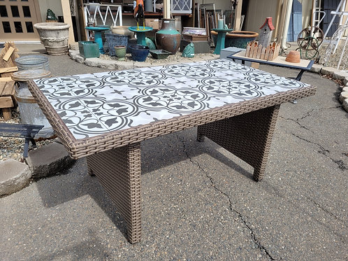 Tile Top Resin Outdoor Dining Table