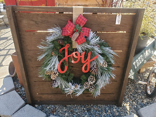 Wreath on Vintage Drying Tray 3'x3'
