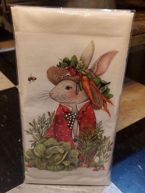 Flour Sack Kitchen Towel (garden bunny)