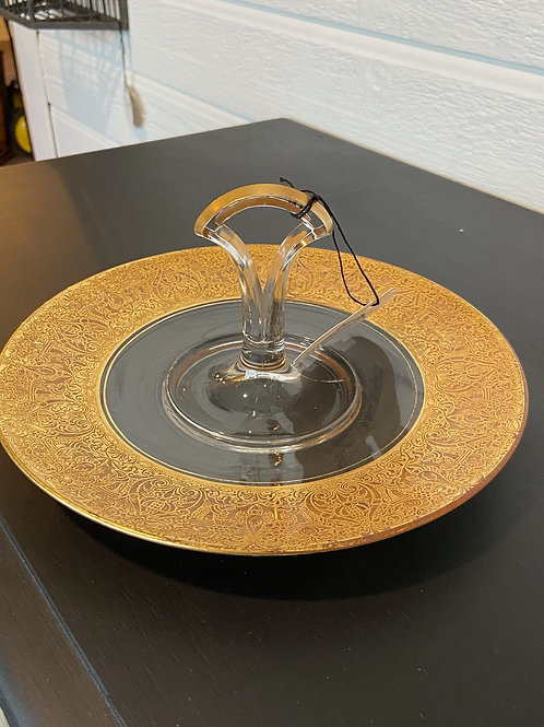 Gold serving tray - 10 inch diameter