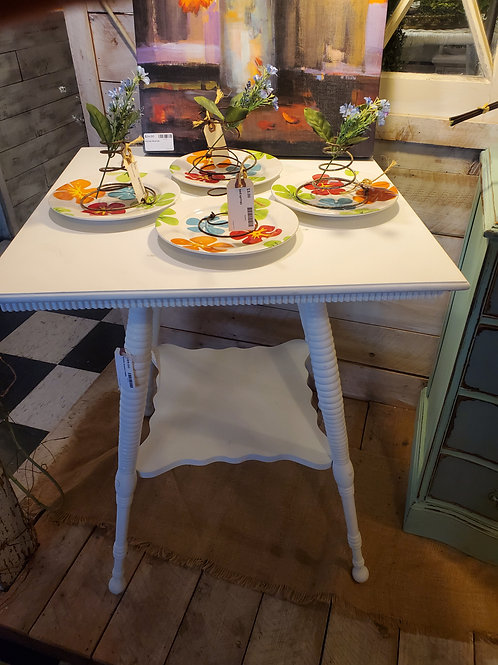 """White Accent Table 24"""" wide x 30"""" tall"""