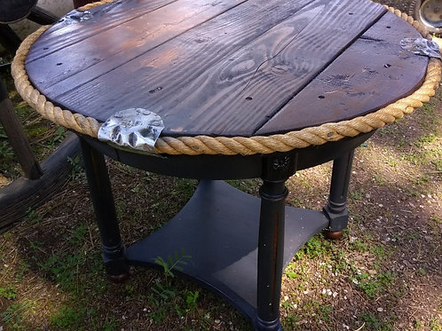 "Round Rope Table 29"" wide x 23 tall"