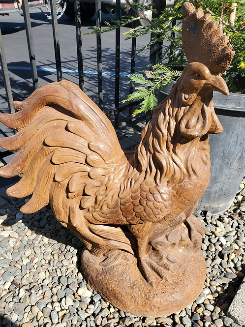 Large Cement Rooster