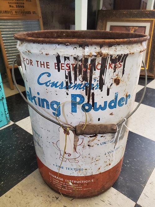 "Baking Powder Tin - 17"" tall x 12"" wide"