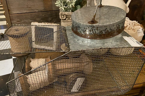 "Galvanized Mesh Pantry/Craft Canister 16"" Lx 8""H x 8""W"