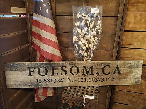 4' Folsom Sign