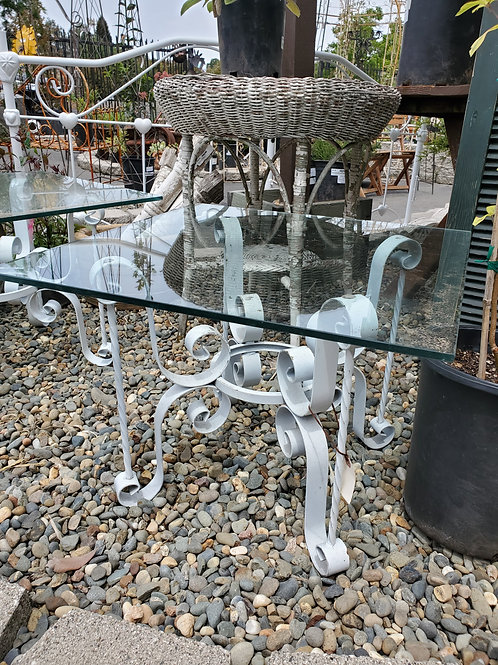 Single Glass Top End Table - 1 left