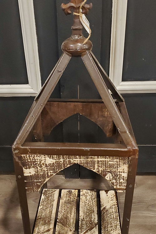 "Awesome Large Rustic Open Style Lantern - 30"" tall x 12"" wide"