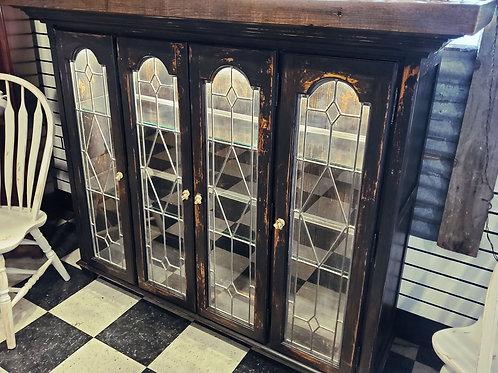 Reclaimed Wood Top Display Case