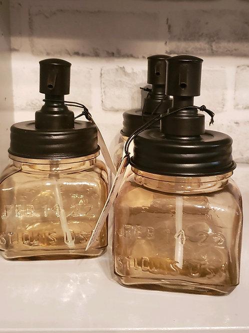 """Amber soap dispenser  7"""""""