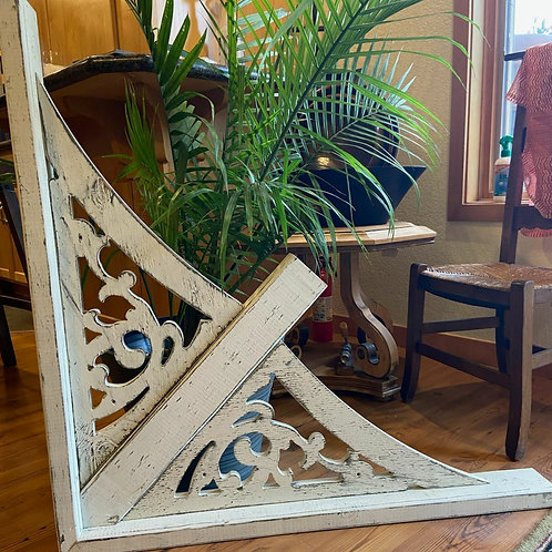 """Buy 2, get 20% off of these Large Architectural Wood Gables  51"""" L x 21"""" H"""