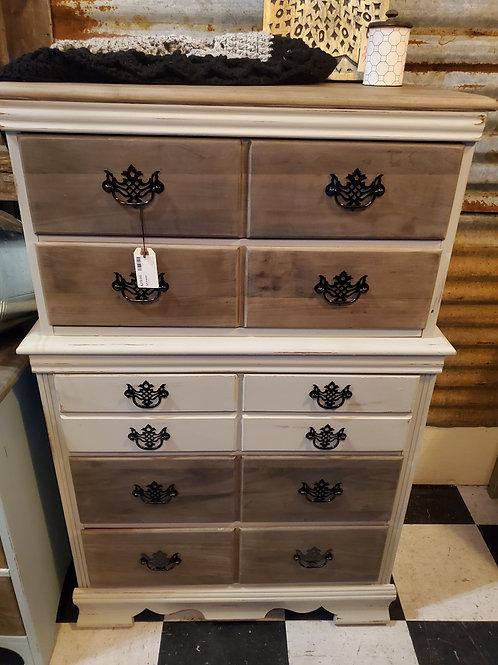"Grey & Wood Dresser - 29"" wide x 47 1/2"" tall x 17"" deep"