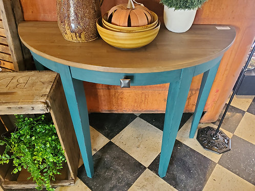 Beautiful Blue Half Round Entry Table