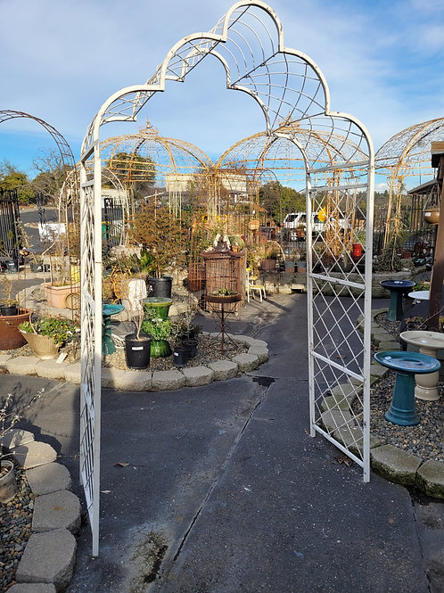 Metal Cloud Arbor - Also available in natural metal!
