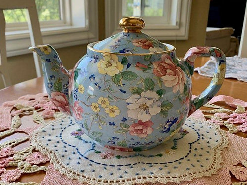 "Vintage Floral Teapot by Arthur Wood. Made in England. Never used! 6""H x 9""W."