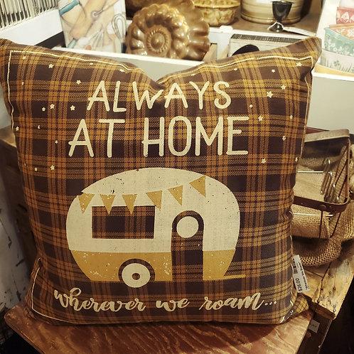 """""""Wherever We Roam"""" Pillow 16x16"""