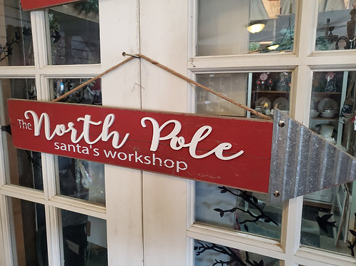 """31"""" wide North Pole Sign"""