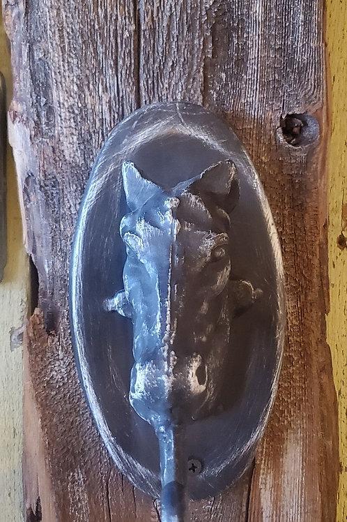 "Horse Hook On Wood 6 1/2"" x 16 1/2"""