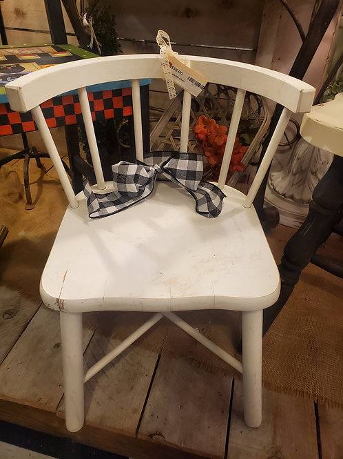 """Small Childs Chair - 11"""" tall to seat x 19"""" tall to top of back x 12"""" wide"""