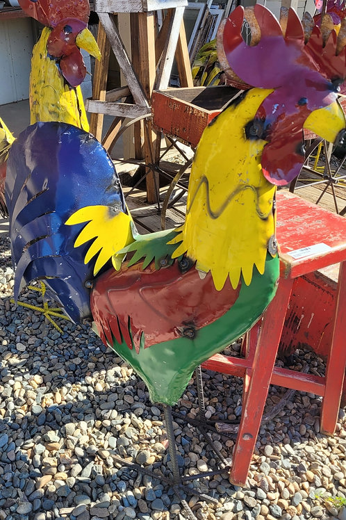 """Metal Rooster - 40"""" tall"""