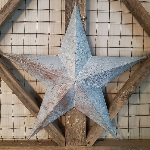 "Galvanized 24"" Barn Star"