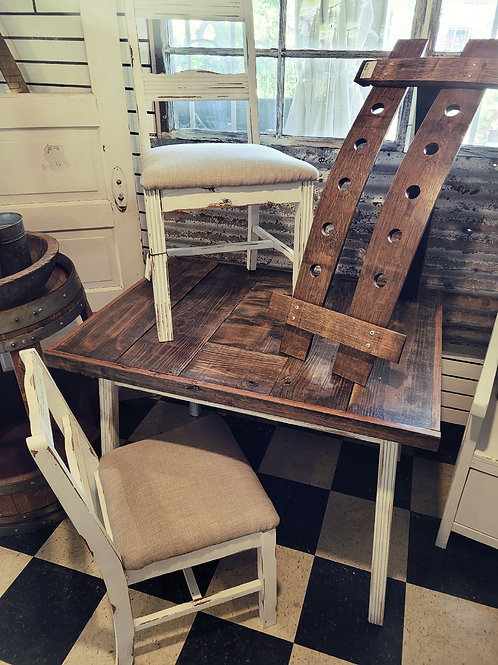 Wood Top Table w/ 2 Chairs
